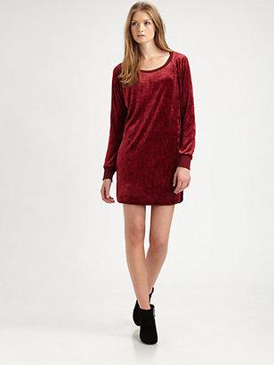 C&C California Velvet Sweatshirt Dress