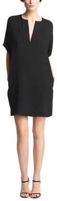 Vince Trapunto Silk Shift Dress