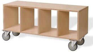 Offi Birch Storage Bench Color: Walnut