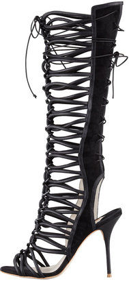 Webster Sophia Clementine Strappy To-the-Knee Sandal Boot