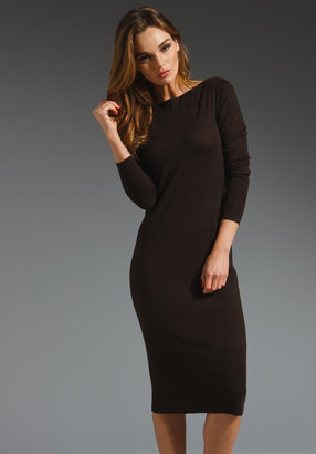Autumn Cashmere Fitted Boatneck Dress