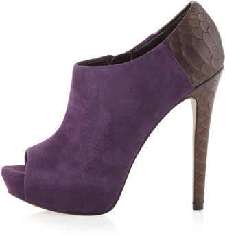 Boutique 9 Colton Platform Suede Bootie, Purple Duet