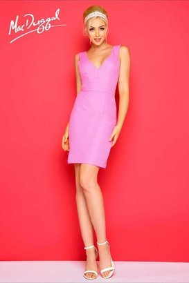 Mac Duggal After 5 - 65655 V Neck Dress In Pink