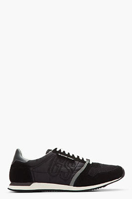 G Star G-STAR Black Suede-Trimmed Futura Sneakers