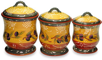 Bed Bath & Beyond Certified International French Olives 3-Piece Canister Set