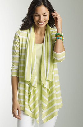J. Jill Linen striped cardigan