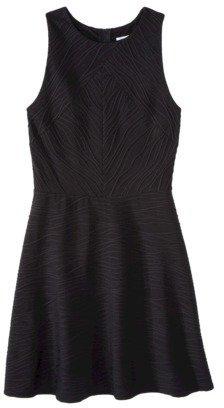 Xhilaration Juniors Textured Fit & Flare Dress - Assorted Colors