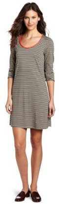 Lilla P Women's Stripe 3/4 Sleeve Dress