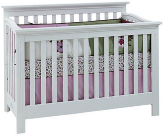 Baby Cache Essentials Flat Lifetime Crib - White
