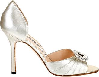 Manolo Blahnik Sedaraby champagne sandal