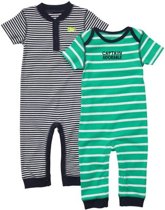 Carter's 2-Pack Coverall - Navy/Green-NB