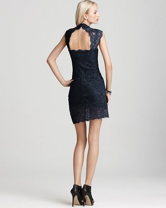 Nicole Miller Dress - Stretch Lace Short Open Back