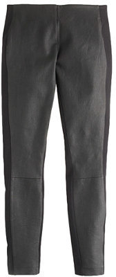 J.Crew Collection leather-front Pixie pant