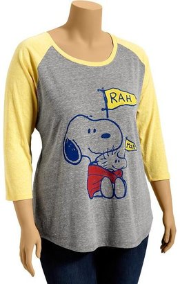 Old Navy Women's Plus Snoopy© Baseball Tees