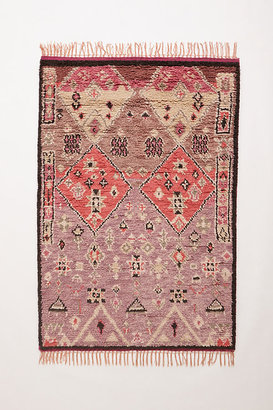 Anthropologie Hand-Knotted Double Diamond Rug By in Purple Size 2 X 3