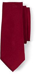 Lands' End Men's Solid Silk Repp Necktie-Rich Red