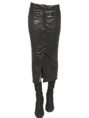 Haider Ackermann Nappa Leather Pencil Skirt