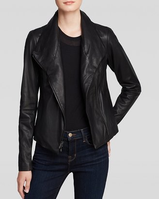 Vince Jacket - Vintage Leather Scuba $995 thestylecure.com