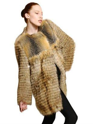 Meteo Marmot And Fox Fur Coat