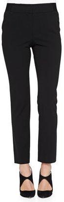 Armani Collezioni Elastic-Waist Slim Pants, Black $645 thestylecure.com