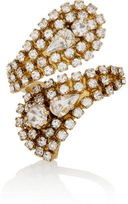 Erickson Beamon Hello Sweetie gold-plated Swarovski crystal ring