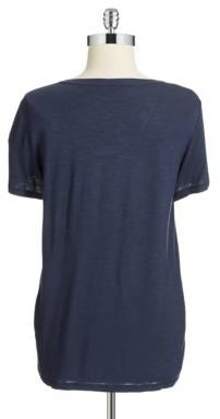 Calvin Klein Jeans Faux Leather Accented Tee