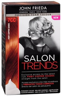 John Frieda Precision Foam Color Salon Trends Permanent Hair Fiery Copper Sands