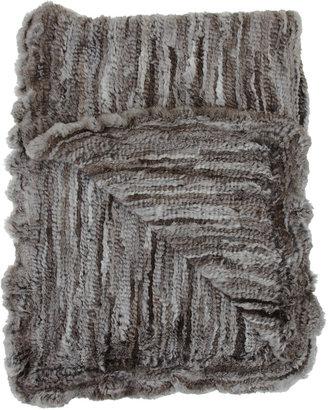 Barneys New York Natural Goma Knit Throw