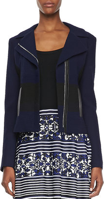 Nanette Lepore West Coat Two-Tone Jacquard Jacket