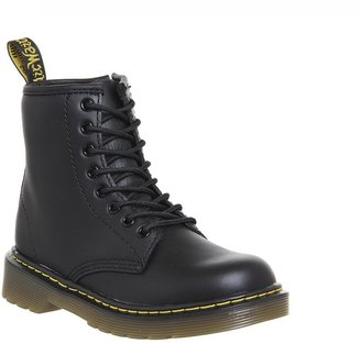 Dr. Martens Junior Lace Up Boots Inside Zip Delaney Black