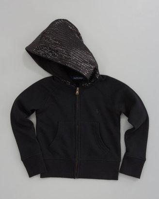Ralph Lauren Sequined Zip Hoodie, Black