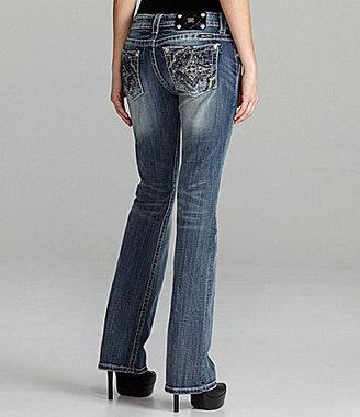 Miss Me Embellished Cross-Pocket Bootcut Jeans
