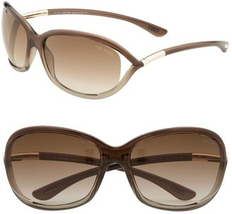 Tom Ford Jennifer 61mm Oval Oversize Frame Sunglasses