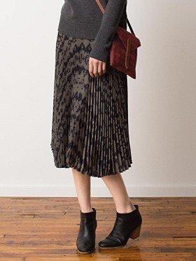 Pendleton Olene Pleated Silk Skirt