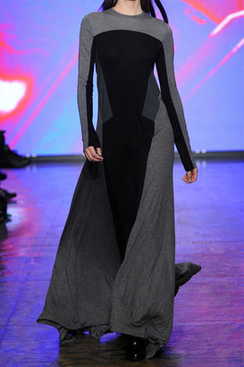 DKNY Color-block jersey maxi dress