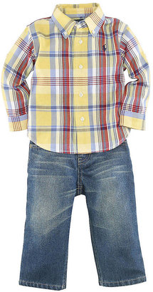 Ralph Lauren Baby Boys 12-24 Months Long-Sleeve Plaid Shirt & Denim Set