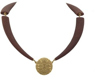 House Of Harlow Engraved Coin Collar Necklace