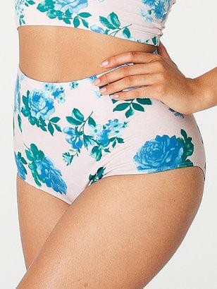 American Apparel Floral Print Cotton Spandex Jersey High-Waist Brief