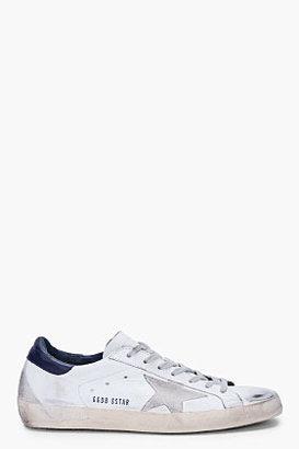 Golden Goose White Blue Super Star Sneakers