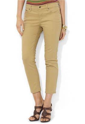 Lauren Ralph Lauren Jeans, Slim-Fit Cropped, Barrier Khaki