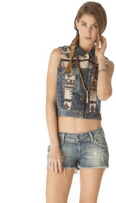 Pink Mascara Southwest Denim Vest
