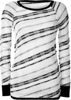 See by Chloe White/Black Knit Top