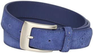 Stacy Adams Men's 32mm Leather Belt with Perforated Tip and Keeper
