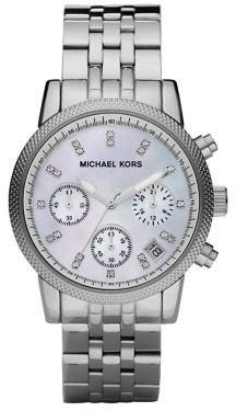 Michael Kors Crystal & Stainless Steel Chronograph Watch