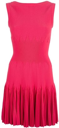Alaia fitted textured knit dress