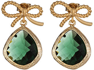 Alvina Abramova Emerald Glass Drop Susie Earrings