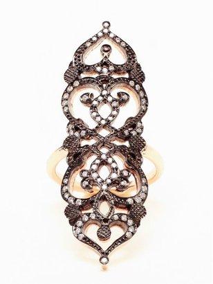 Sabine G 'Medieval' 18k Rose Gold and Diamond Ring