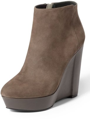 Theory Bari London Suede Wedge Bootie