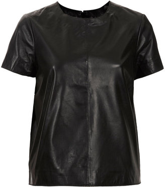 Topshop Leather T-shirt