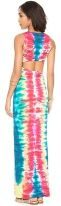 Mara Hoffman Slit Back Column Maxi Dress
